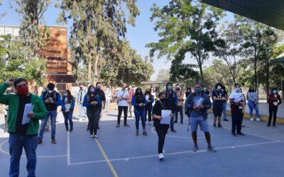 Alumnos de IV medio asisten a rendir primer Ensayo PTU