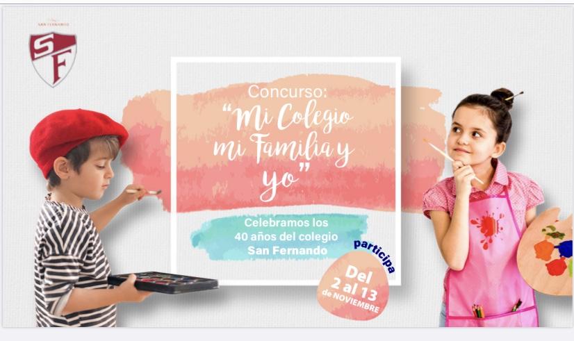 """¡Participa en el concurso """"Mi colegio, mi familia y yo celebramos los 40 años""""!"""